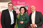 Andreas hemsing (links), Sandra van Heemskerk (stellvertretende NRW-Landes- und Bundesvorsitzende der komba gewerkschaft), Volker Geyer