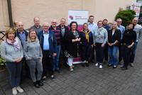 Seminarteilnehmerinnen und -teilnehmer mit Sandra van Heemskerk (Mitte). © komba gewerkschaft nrw