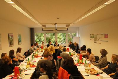 Konstruktiver Austausch bei Infoveranstaltung in Aachen. © Ortsverband Aachen/Karlheinz Welters
