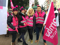 Bild: Heidi Becker, Joana Woodage, Jennifer Rübenhaus und Torsten Helbig (stellv. Vorsitzender)