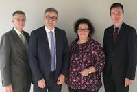 v.l.n.r.: Dr. Marco Kuhn, Andreas Hemsing, Sandra van Heemskerk und Dr. Martin Klein (Foto: © komba gewerkschaft nrw)