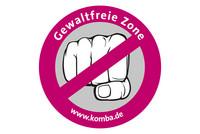"""komba-Aktionsaufkleber """"Gewaltfreie Zone"""" (Layout: @ komba nrw)"""