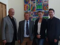 Gruppenbild: Josef Köster, Burkhard Mast-Weisz, Monika Plauschinatis und Torsten Helbig